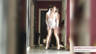 Chinese Sex Hard - Chinese Porn skank inside heels gives boyfriend oral sex and hard sex with  4kPorn.XXX